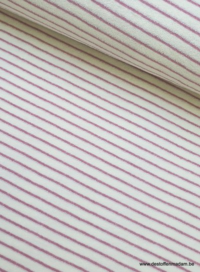 pink stripes terry