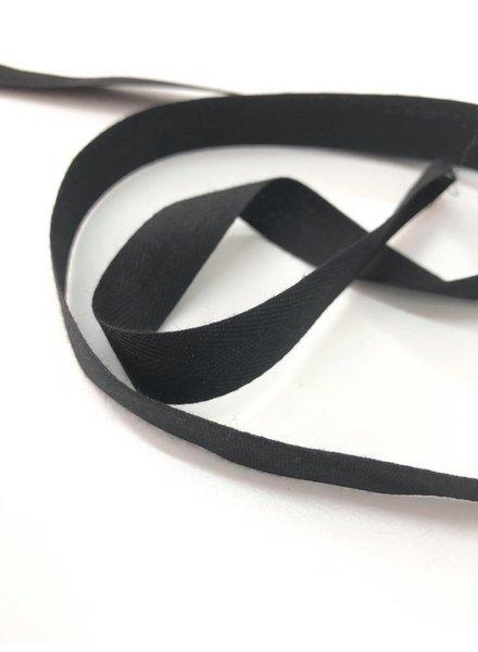 10 meter keperband katoen - zwart