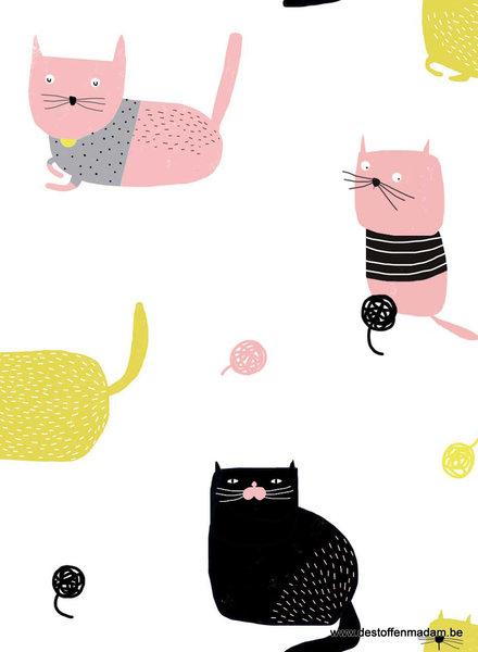 Knitting Meow - katoen