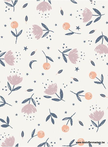 Tiny flowers - katoen