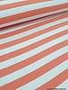 bio french terry - coral stripes