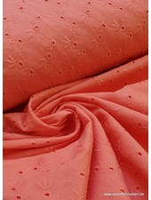 coral embroidery - cotton