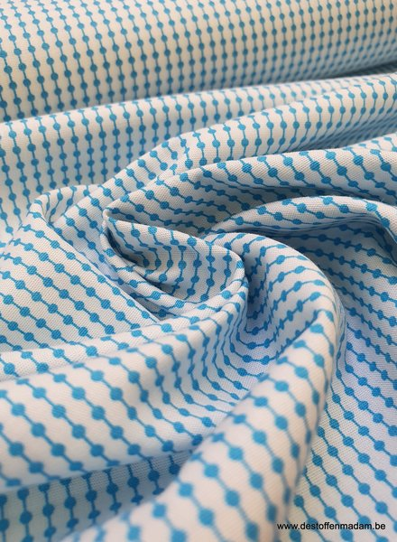 soft blue motif - soft and supple cotton - easy iron