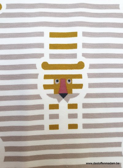 striped lions - tricot