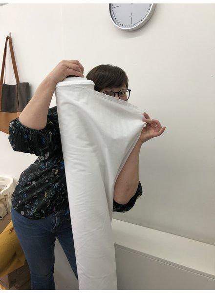 1 meter mondmasker stof WIT - katoen