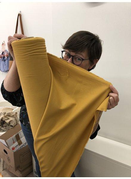 1 meter mondmasker stof oker - katoen