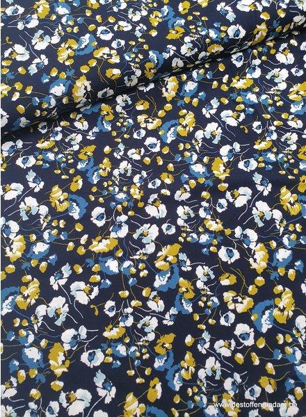 blue bouquet viscose