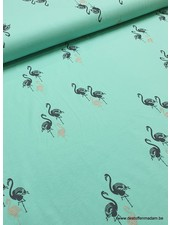 shining flamingo mint - tricot
