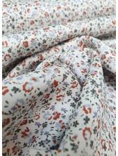roest bloemetjes - liberty style - viscose twill