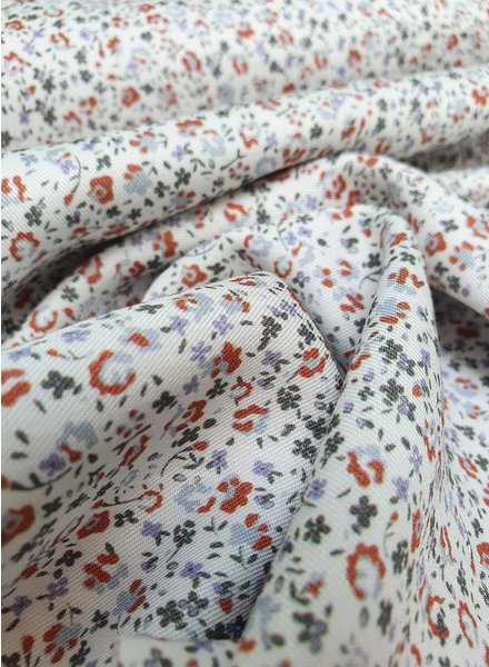 rusty flowers - liberty style - viscose twill