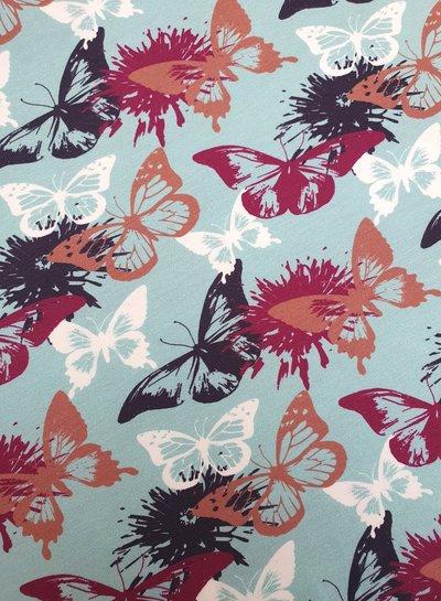 butterflies aqua - jersey
