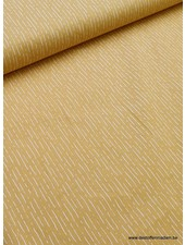 dashed ocre cotton