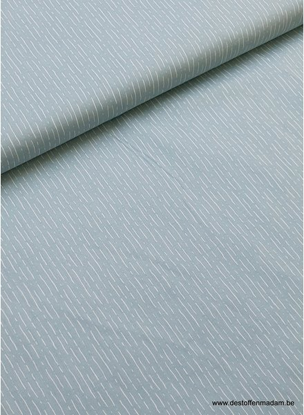 dashed blue mint cotton