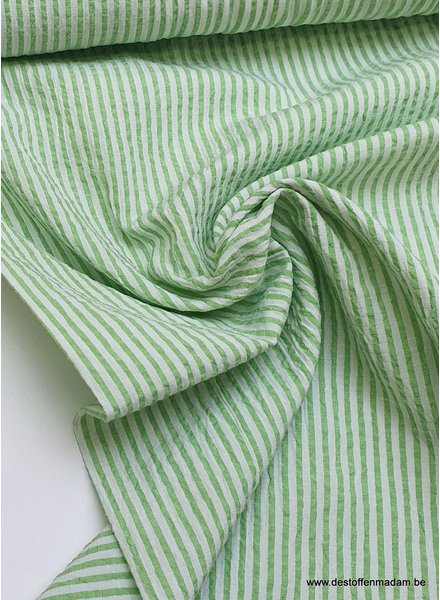 seersucker groen - katoen