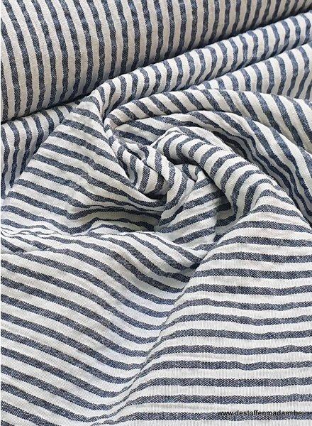 seersucker marine blue - cotton