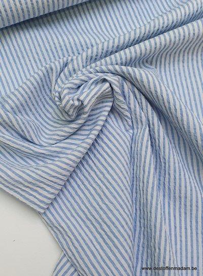 seersucker soft blue - cotton