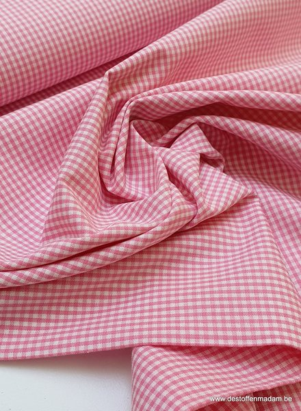 Swafing vichy mini cotton - pink