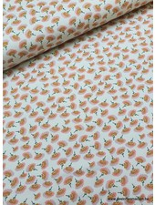 dusty pink blossom blue - tricot
