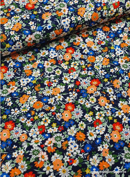 beautiful colored flowerfield - jersey