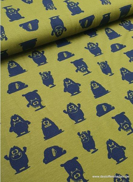 khaki happy monster - tricot