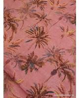 marsala leaves - linen cotton mix