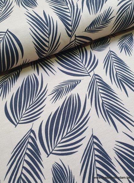 blauwgrijs leaves tricot