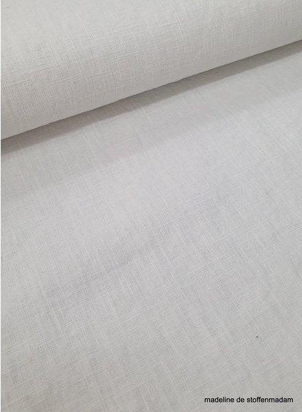 100% effen linnen  wit - 8 oz