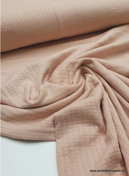 dusty pink - double gauze stretch - baby cotton
