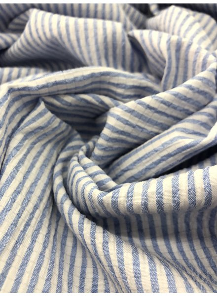 seersucker blue - cotton