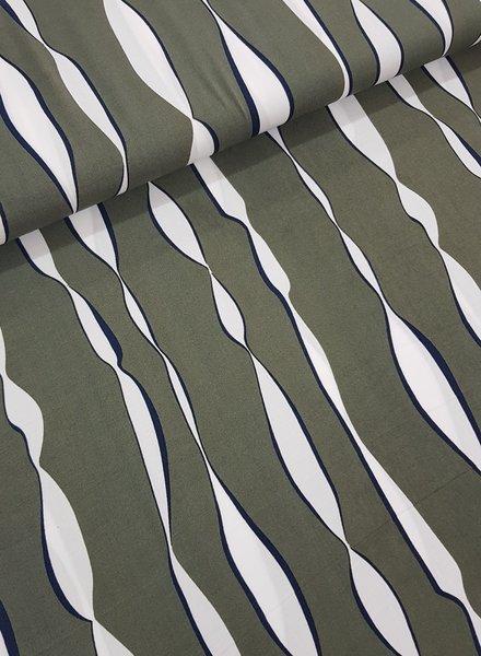 printed stripes - viscose
