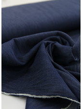 Fibremood 4.5oz - organic cotton - chambray - dark indigo - NON-stretch - Rozan