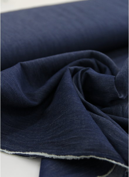 Fibremood 4.5oz - organic cotton - chambray - dark indigo - NON-stretch - Rozan