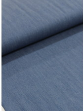 4.5oz - organic cotton - chambray - blue - NON-stretch