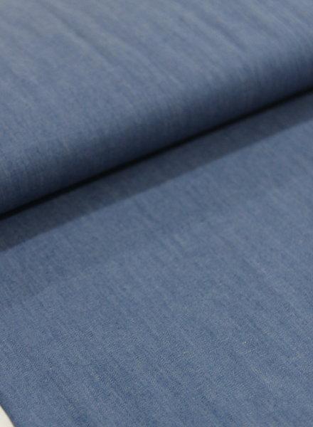 4.5oz - organic cotton - chambray - blue - NON-stretch