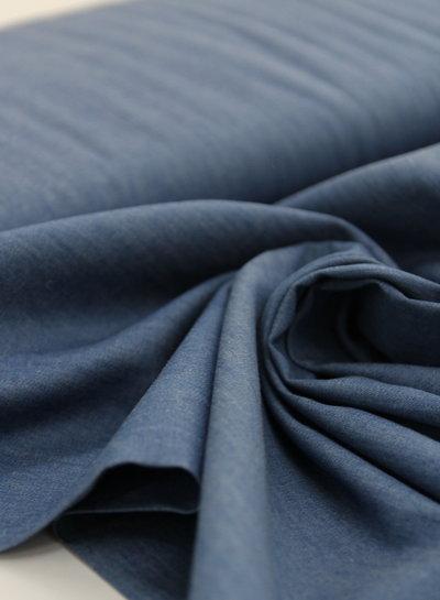 4.5oz - organic cotton - chambray - indigo - NON-stretch