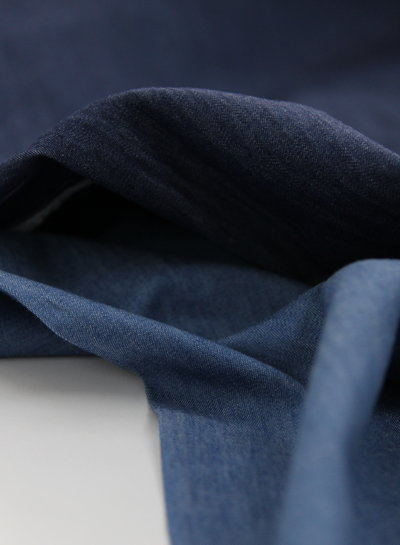 4.5oz - organic cotton - chambray - light blue - NON-stretch