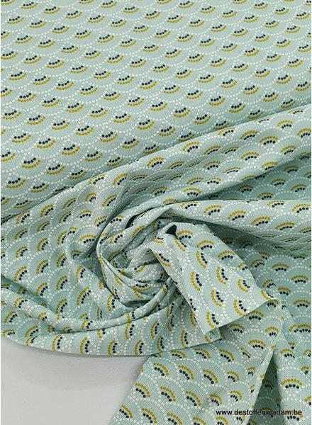 mint scallop - cotton