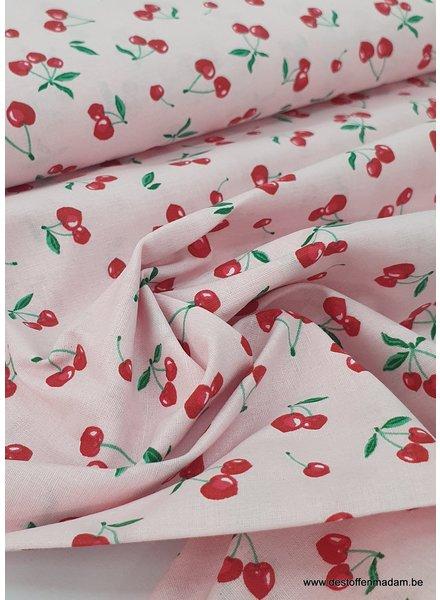 cherries roze - katoen