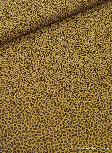 leopard ocre - cotton