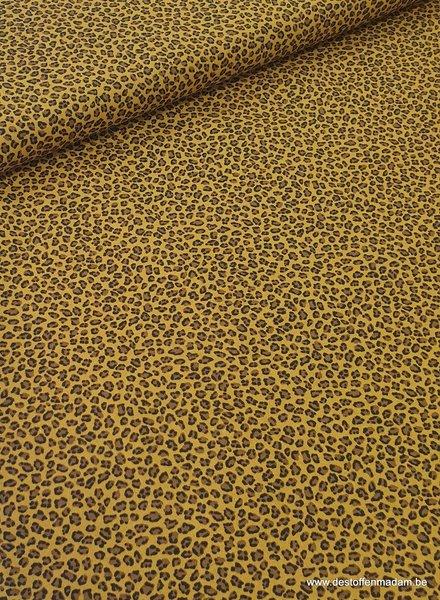 leopard oker - katoen