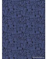 denimblauw - dierenkopjes - tricot