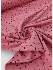 roze - confetti dashes - tricot