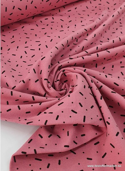 pink - confetti dashes - jersey