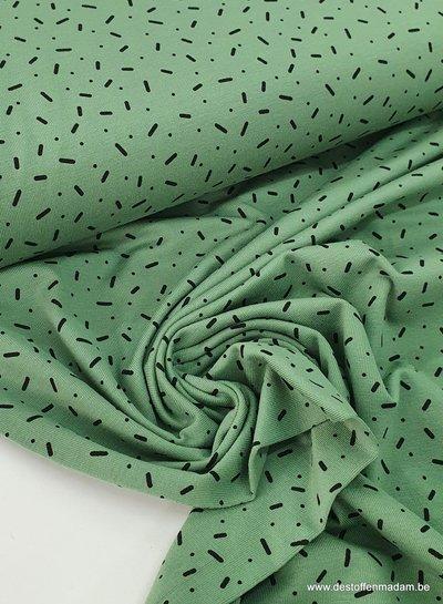 mint - confetti dashes - tricot