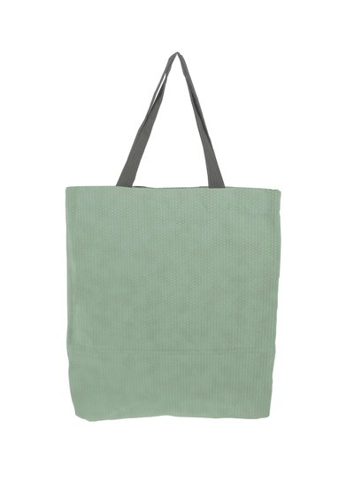 pastel mint green - braided - vegan leather