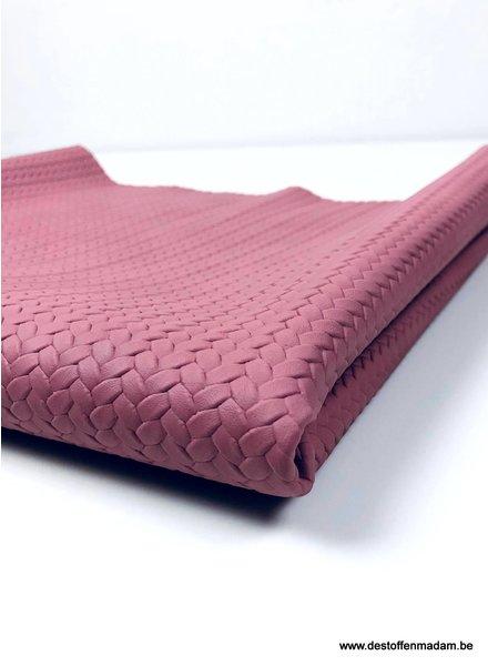 dusty pink - braided - vegan leather