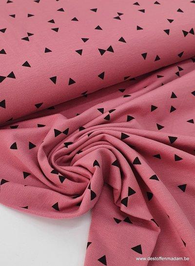 roze - triangle - tricot