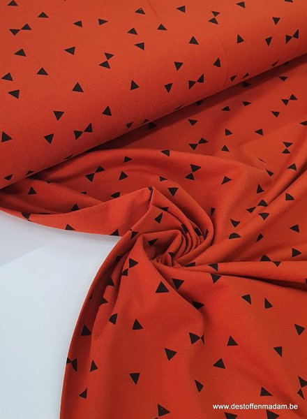 rust - triangle - jersey