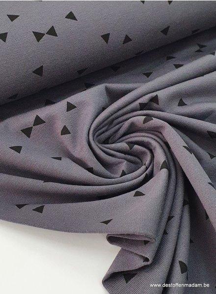 grijs - triangle - tricot