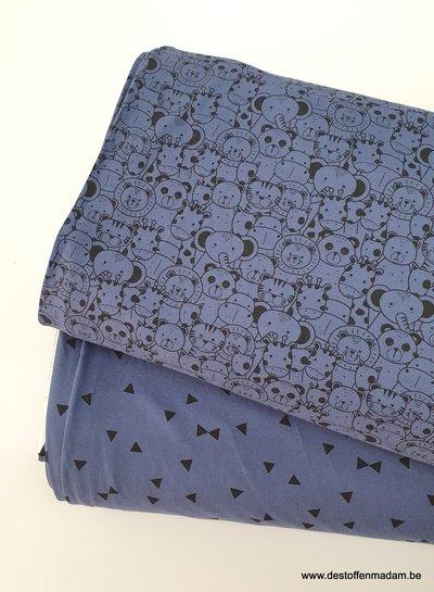 denimblauw - triangle - tricot